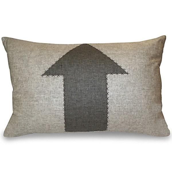 Arrow Applique Stitched Decorative Pillow