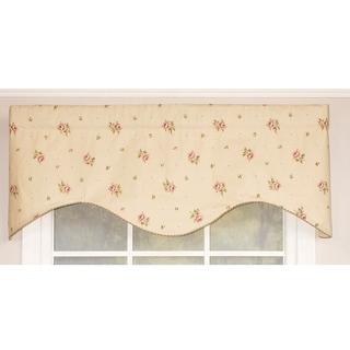RLF Home Hillside Rose Cornice Window Valance - Natural