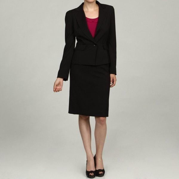 Tahari Women's Black/ White Pinstripe Skirt Suit - Free Shipping