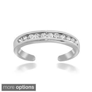 Icz Stonez Sterling Silver Channel-set Cubic Zirconia Toe Ring|https://ak1.ostkcdn.com/images/products/6115589/P13781160.jpg?impolicy=medium