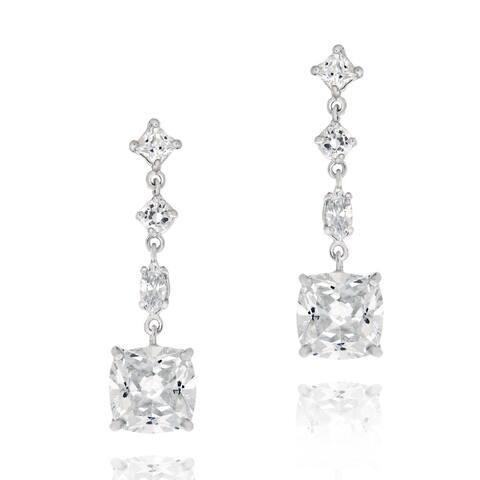 Icz Stonez Sterling Silver Cubic Zirconia Dangle Earrings
