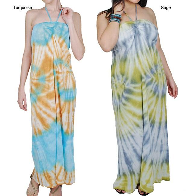 Shop Handmade Women S Cotton Tie Dye Maxi Dress Nepal Free