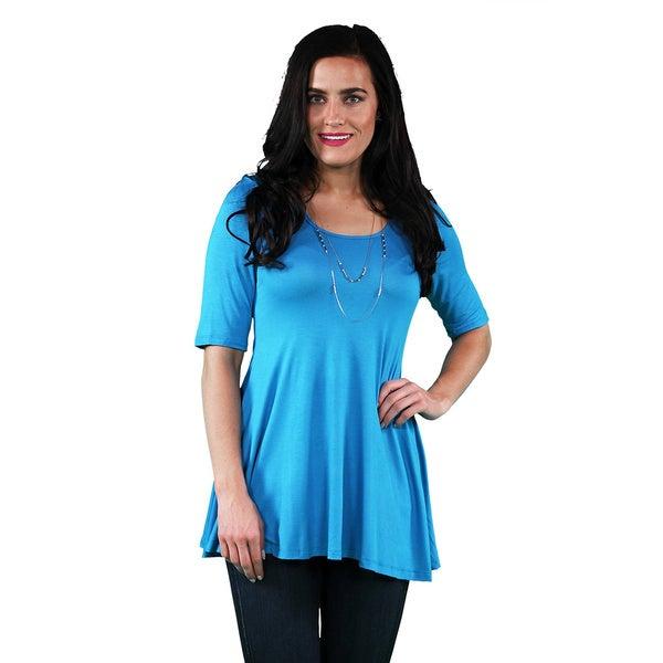 24/7 Comfort Apparel Women's 3/4-sleeve Tunic