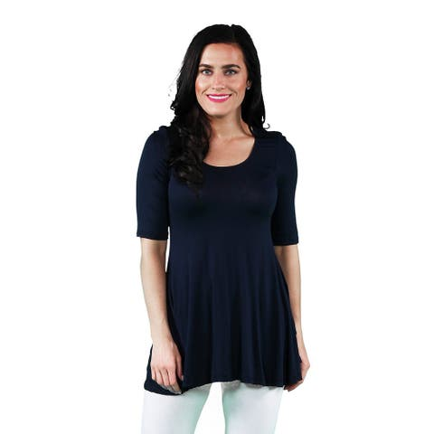 24/7 Comfort Apparel Women's 3/4-sleeve Tunic