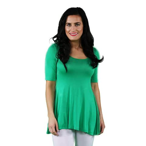 8540bc48e Buy Green 3/4 Sleeve Shirts Online at Overstock | Our Best Tops Deals