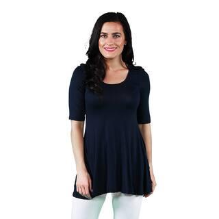 24/7 Comfort Apparel Women's 3/4-sleeve Tunic|https://ak1.ostkcdn.com/images/products/6115828/P13781290.jpg?impolicy=medium
