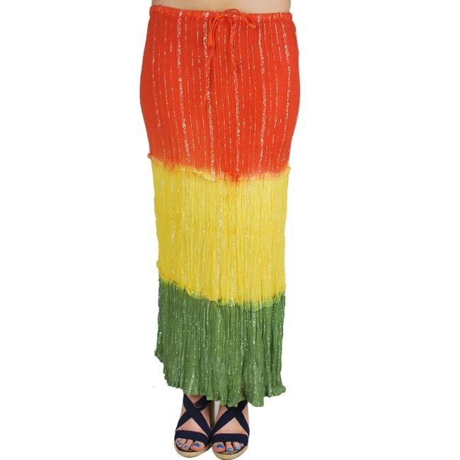 8df1846f71 Shop Handmade Women's Long Rasta Skirt (India) - Free Shipping On Orders  Over $45 - Overstock - 6121223