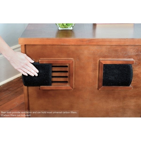 The Refined Felineu0027s Kitty Enclosed Wooden End Table U0026 Litter Box   Free  Shipping On Orders Over $45   Overstock.com   13785884
