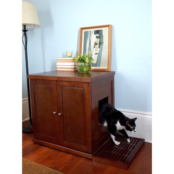 Kitty Litter Box Cat Furniture Enclosed Hidden Decorative