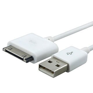 INSTEN Three-foot Apple iPod USB Two-in-one White USB Cable