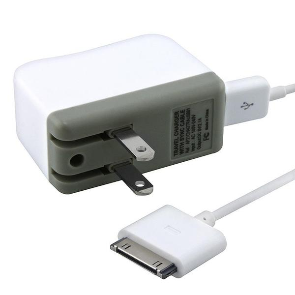 INSTEN Travel Charger/ Sync Cable for Apple iPad/ iPhone/ iPod