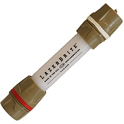 Lazerbrite Red-and-white Waterproof LED Flashlight with Batteries