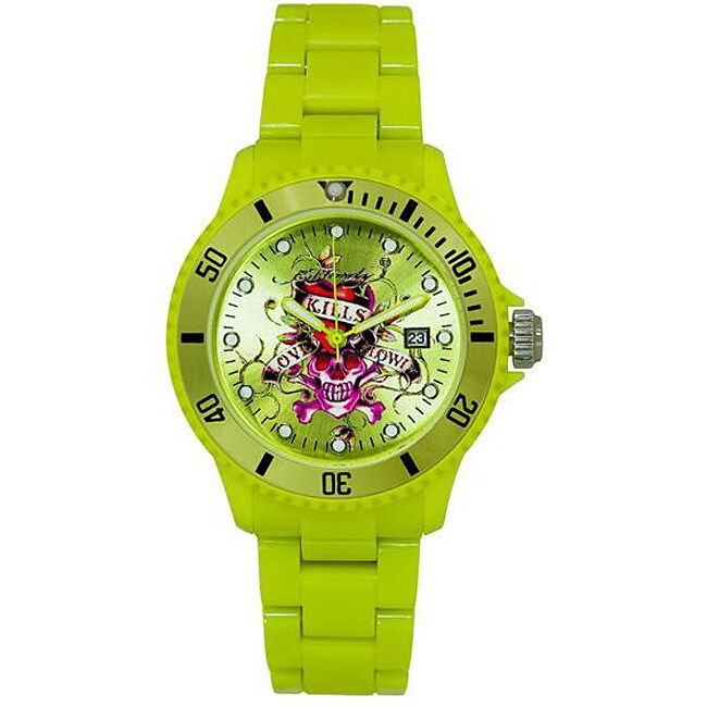 Ed Hardy VIP Green Watch