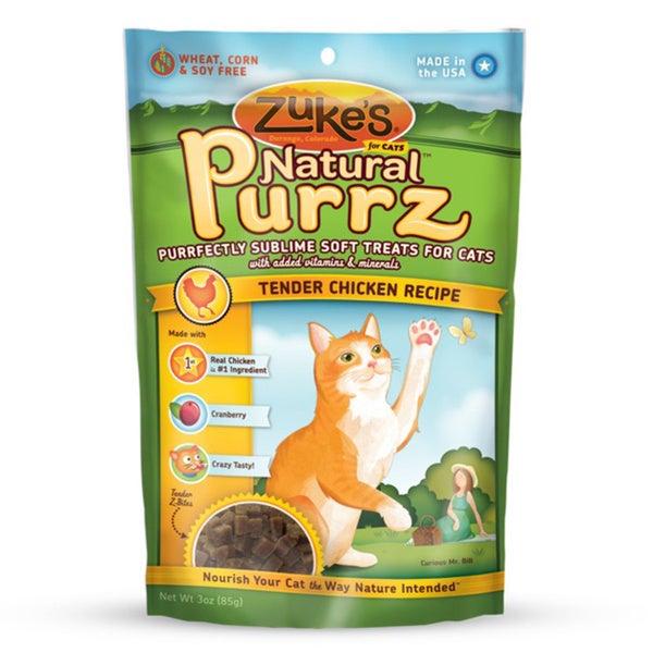 Zukes Natural Purrz 3 oz Moist Chicken Treats