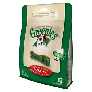 GREENIES Dental Chews for Dogs 25 - 50 lbs 12 oz