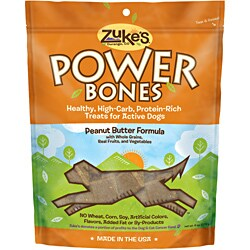Zuke S Natl Endur Powerbones Treats Peanut