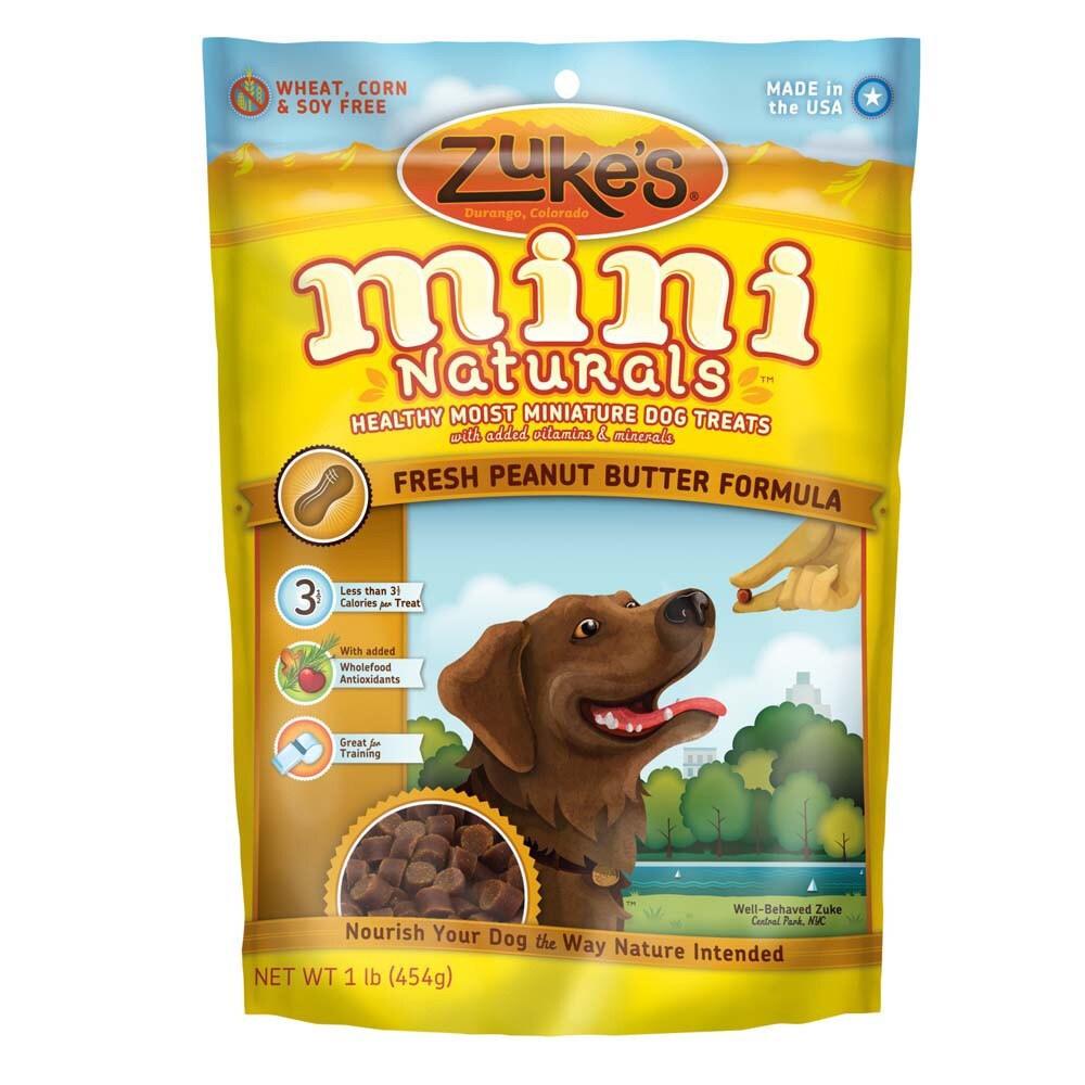 Zuke's Natural Moist Mini Peanut Butter (Yellow) Treats