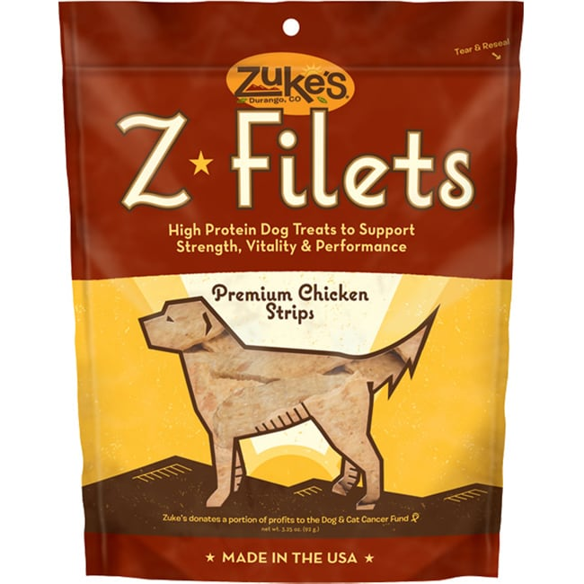 Zuke's Z-filets Chicken 3.25 oz Treats, Wheat