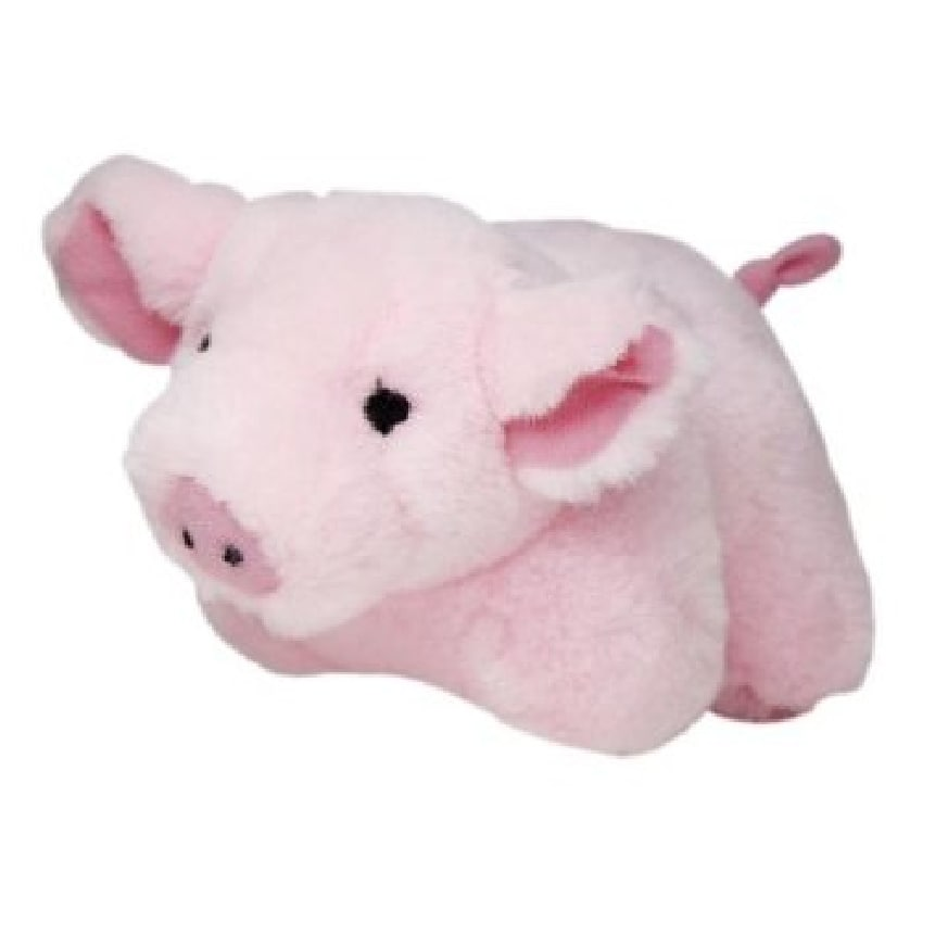 Multipet Look Who's Talking' Plush Pig Pet Toy, Pink