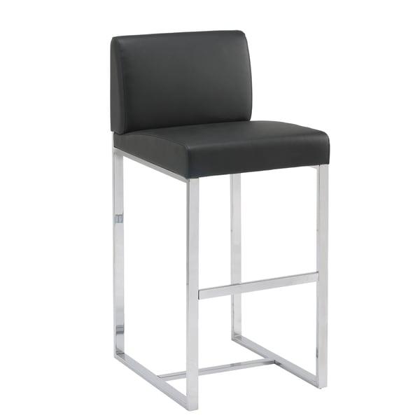 Sunpan 'Ikon' Addison 30-inch Metal Black Barstool