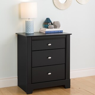 Nicola Black 3-drawer Nightstand