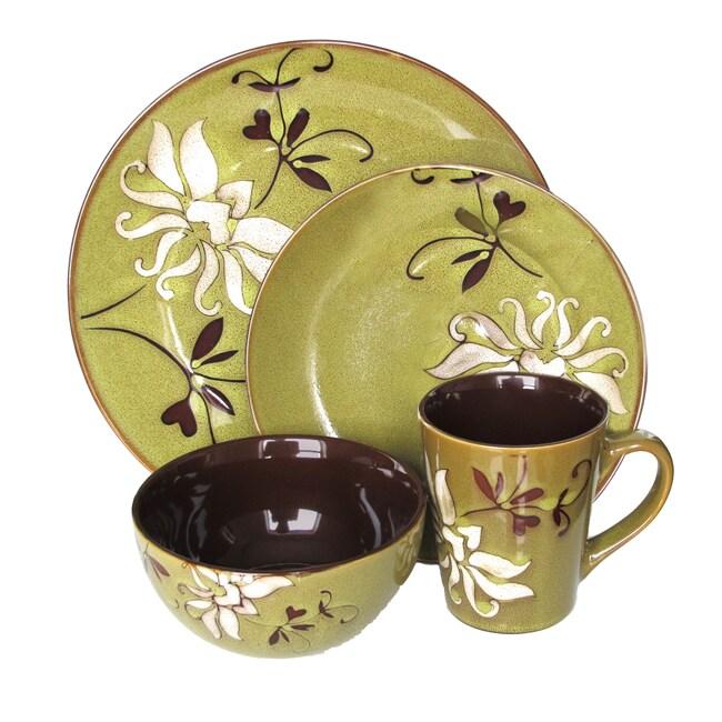 American Atelier Mirabel Green 16-piece Dinnerware Set