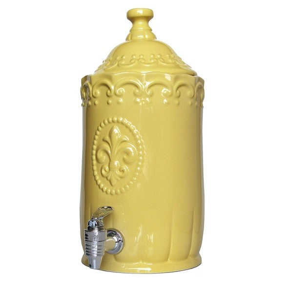 Amercian Atelier Yellow Bianca Beverage Dispenser