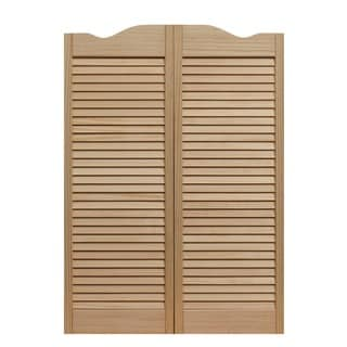 Dixieland 36x42-inch Unfinished Louvered Cafe Doors