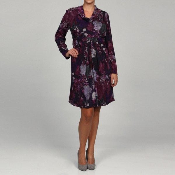 Jessica Howard Women's Plus Pleated Empire Waist Dress