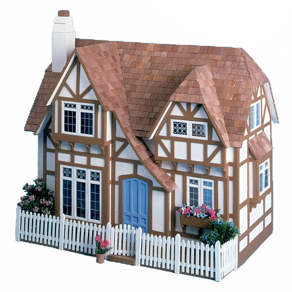 The Glencroft Wooden Unpainted Dollhouse Kit