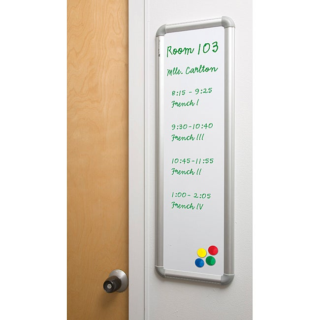 Aluminum Trim PVC 24x8.5-inch Message Board