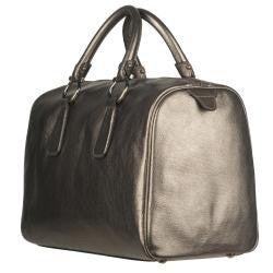 Shop Salvatore Ferragamo Metallic Leather Bowler Bag - Free Shipping ... 8234757f58708
