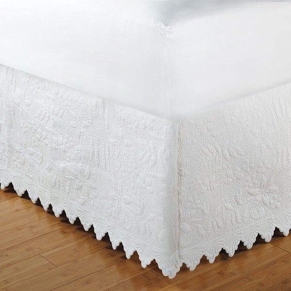 Greenland home fashions white king size milano 15 inch for Overstock free returns