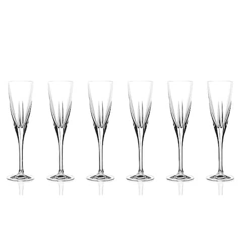 Logic Collection Crystal Champagne Glasses (Set of 6)