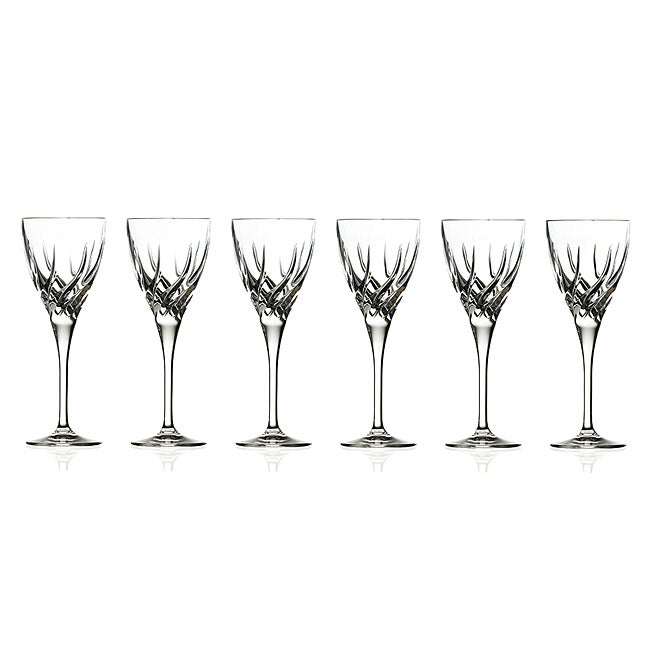 trix collection crystal wine glasses set of 6