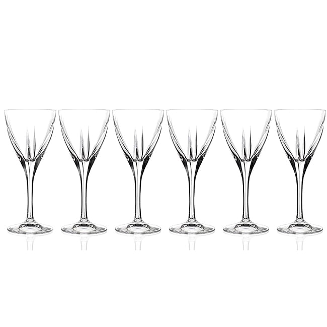 Logic Collection Crystal Wine Glasses (Set of 6)