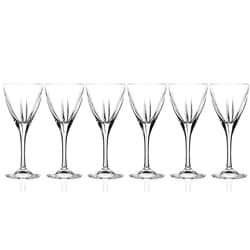 logic collection crystal wine glasses set of 6