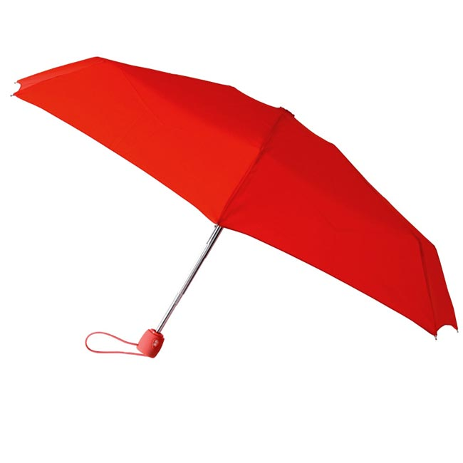 Leighton 48-inch Red Polyester Arc Umbrella with Aluminum Frame