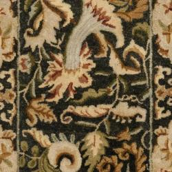 Safavieh Handmade Floral Bells Charcoal Grey Hand-spun Wool Rug (2'3 x 8') - Thumbnail 2