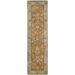 Safavieh Handmade Eden Brown/ Blue Hand-spun Wool Rug (2'3 x 8')