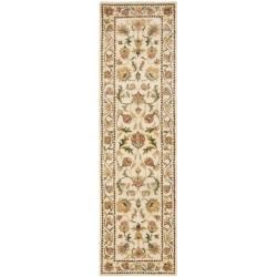 Safavieh Handmade Eden Ivory Hand-spun Wool Rug (2'3 x 12')