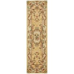 Safavieh Handmade Light Gold/ Beige Hand-spun Wool Rug (2'3 x 10')