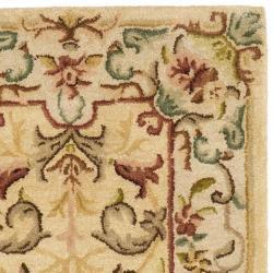 Safavieh Handmade Light Gold/ Beige Hand-spun Wool Rug (2'3 x 8') - Thumbnail 1