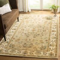 Safavieh Handmade Farahan Khaki/ Ivory Hand-spun Wool Rug - 5' x 8'
