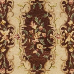Safavieh Handmade French Bouquet Ivory/ Rust Hand-spun Wool Rug (2'3 x 8') - Thumbnail 2
