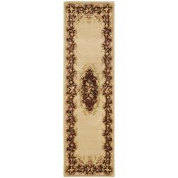 Safavieh Handmade French Bouquet Ivory/ Rust Hand-spun Wool Rug (2'3 x 8') - Thumbnail 0