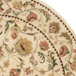 Safavieh Handmade Eden Ivory Hand-spun Wool Rug (6' Round) - Thumbnail 1