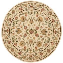 Safavieh Handmade Eden Ivory Hand-spun Wool Rug (6' Round) - Thumbnail 0