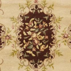 Safavieh Handmade French Bouquet Ivory/ Rust Hand-spun Wool Rug (4' x 6') - Thumbnail 2