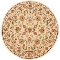 Safavieh Handmade Eden Ivory Hand-spun Wool Rug - 8' x 8' Round